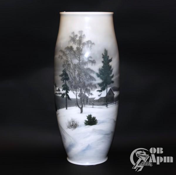 Ваза с изображением зимнего пейзажа