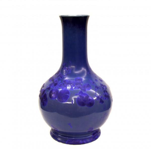 Ваза с синей кристаллической глазурью