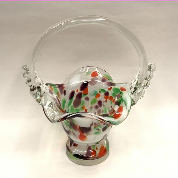 Вазочка-конфетница гутное стекло