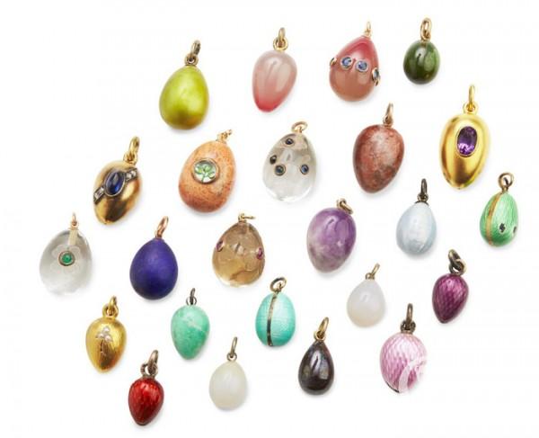 Подвески в виде пасхальных яиц из коллекции Анастасии Михайловны